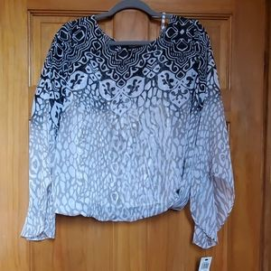 Alfani sheer shirt with attached tank.  Sz M.  NWT